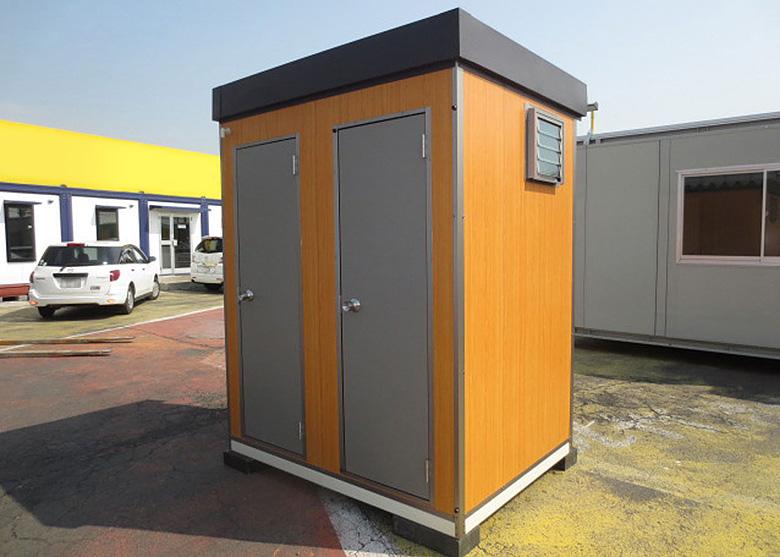 新品アウトレット仮設トイレユニットハウス本水洗トイレ洋式1小専用1