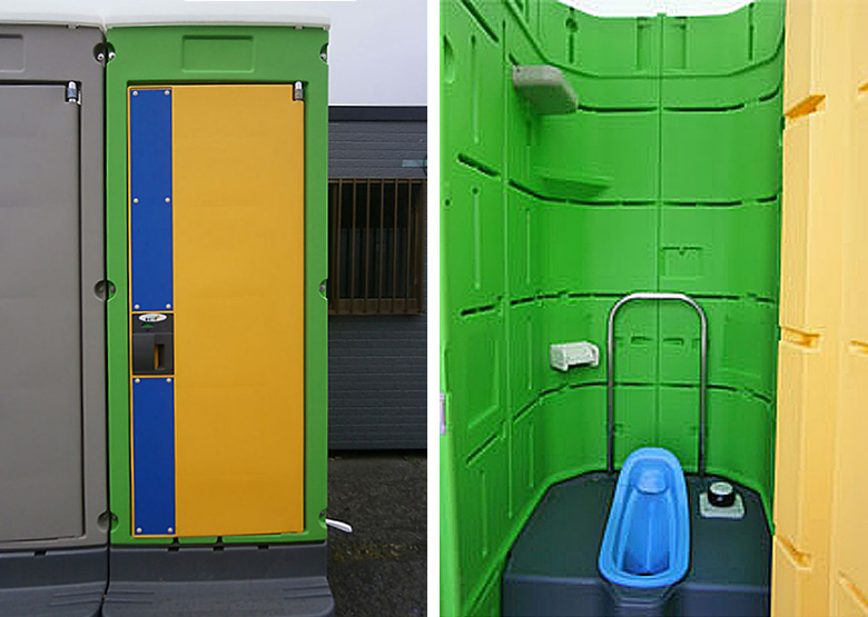 新品アウトレット仮設トイレユニット簡易水洗トイレ和式1グリーン