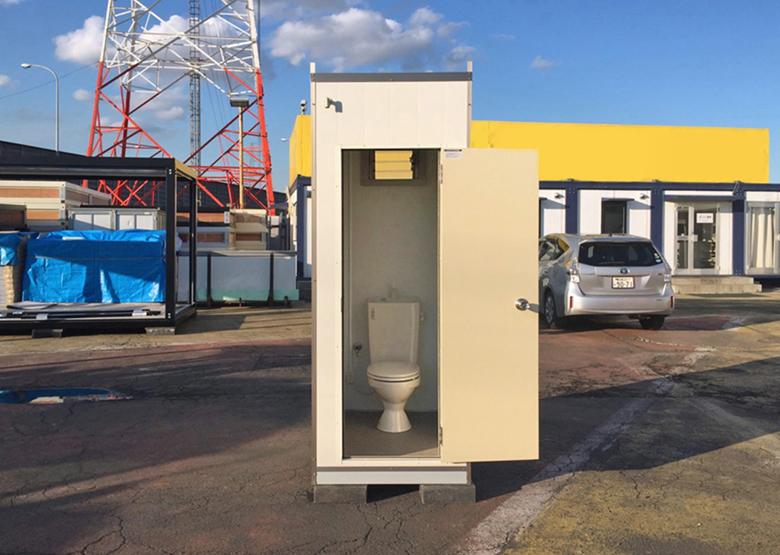 新品アウトレット仮設トイレユニット本水洗トイレ 洋式 プレハブ